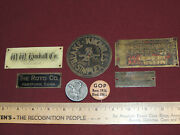 Antique Serial Number Tags Political Pinback German Tinnie Day/badge Mai 1938