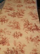 Schumacher Wallpaper French Toile Red White Lot 5 Rolls 27andrdquox 9yds Run 5 Nice