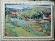Original Oil Painting By B Bobilev 'hills' Stunning Impressionist Gifted 43 X 32