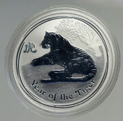 2010 Australia Year Of Tiger Chinese Old Zodiac Proof Silver Dollar Coin I94560
