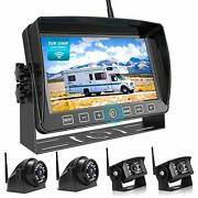 1080p Wireless Backup Camera System Kit With Recording 7 7-inch Carbon Black