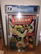 Justice League Of America 21 Cgc 7.0 First Sa Hourman Doctor Fate Icicle Wizard