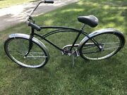 1950's Hiawatha Bicycle Made By Murray Oh Mfg. Black And Silver Rides Nice