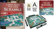 Scrabble Tile Lock Large Print Game New Sealed In Box. Ages 8 And Up