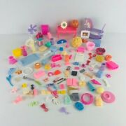 Pretend Play Accessories Toy Lot Of 104 Pc For Dollhouse Playsets
