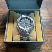 Seiko Prospex Divers Discontinued Black Monster Automatic Mens Watch Auth Works
