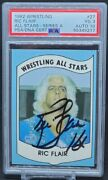 1982 Wrestling All Stars Ric Flair Rookie Card Signed Rc Psa/dna 3 Auto 10