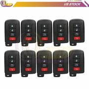10 Pack Of Keyless Entry Remote Fob 4 Button Key Fits Toyota Hyq14fba 314.3mhz