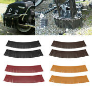 Motorcycle Tassel Saddle Bags Pu Leather For Harley Roadmaster Chief Vintage