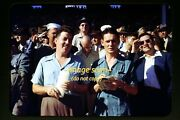 Men At Horse Racing Track In California In Mid 1940's, Kodachrome Slide F2b
