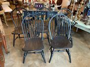 Set Of Five Late 18th Century American Painted Windsor Chairs