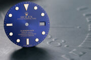 Rolex Submariner Blue Dial Minor Damage At 12 O'clock For Model 16613 Fcd12989