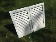 Vintage Refinished White Salvage Shutters 2 Matching Decor Wall Art Farm Garden