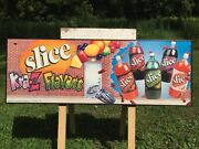 Slice Soda Drink Advertising Sign Discontinued Pepsi Poster Wall Art Display