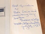 1941 You Can't Go Home Again By Thomas Wolfe Hb Book Rare Signed By Mabel Wolfe
