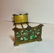 Style Stained Glass And Brass Folding/expandable Book Holder,