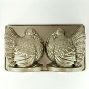 Nordic Ware Turkey Cake Mold Pan 3d Aluminum 10 Cup Thanksgiving