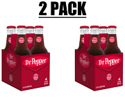 Lot Of 2 Dr Pepper Made With Sugar, 12 Fl Oz Glass Bottles, 4 Pack Total Of 8