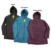 Free Country Women's Freecycle Hooded Quilted Puffer Zip Up Parka Jacket