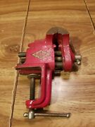Vintage Brink And Cotton Clamp On Bench Vise