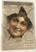 Antique Victorian Advertising Trade Card - Hoods Tooth Powder