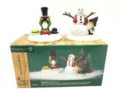 Dept 56 North Pole Woods 56921 Tailored For You Set Of Two Snowman Hats Elves