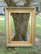 Antique Large Victorian Gilt Picture Frame Museum Quality 30x39