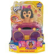Nib Little Live Pets Omg Pets Have Talent - Stage Star Puppy Playset
