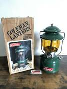 Coleman 200a Vintage Lantern Green Body Retro Outdoors Item Used From Japan