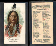 1888 N2 Allen And Ginter American Indian Chiefs Sitting Bull 3548