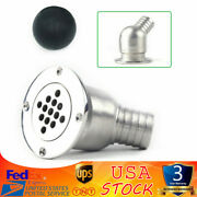 Boat Deck Drain Scupper 40mm Inspection Ball Fit Hose 1-1/2 Marine Stainless