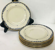 Lot Of 6 X Lenox Liberty Porcelain 6 3/8 Dia Bread And Butter Plates Good Cond
