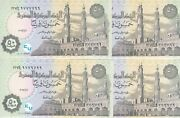 Egypt 50 Pt Piastres 2017 P-70 Sig/t.a24 Lot 4 Unc Fancy Serial Number 777and999