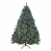 Northlight 7.5and039 Colorado Blue Spruce Artificial Christmas Tree - Multi-color Led