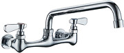 Kitchen Faucet Wall Mount Commercial Sink Faucet Kitchen Utility Laundry 8 Inch