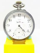 Antique A Volta Minute Repeater Pocket Watch Sterling Silver And 18k Rare Vintage