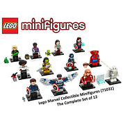 Lego Marvel Studios Collectible Minifigures Complete Set Of 12 - 71031