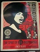 Shepard Fairey Spirit Of Independence Screen Print Poster Signed Numbered Rare