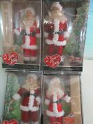 Set Of 4 I Love Lucy Santa Barbies. Ethel, Fred, Lucy And Ricky. Nrfb