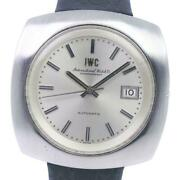 Old Inter Stainless Steel Leather Automatic Silver Dial Menand039s Watch [u0820]