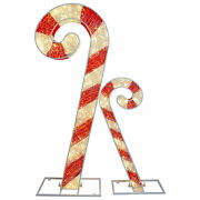 6ft Lighted Commercial Grade Led Candy Canes Christmas Display Decoration