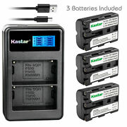 Kastar Battery Lcd Dual Charger For Sony Np-fm500h And Dslr-a700 Alpha A700 Camera