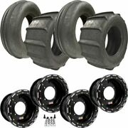 Sti 28 Sand Drifter Front Rear Paddle Tires W/ 14 Dwt Sport Ultimate Wheels