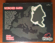 Scorched Earth - Europa Game Ii - Gdw 829 100 Complete And Unpunched