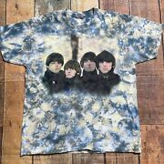 Vntg Delta Large Beatles Tie Dye Tee Shirt Single Stitch T-shirt Made In Usa