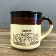 Hardees Rise And Shine Homemade Biscuits Vintage 1983 Coffee Cup Mug Fast Food