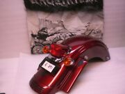 Used 2009 Harley Flhx Street Glide Red Hot Sunglo Complete Rear Fender