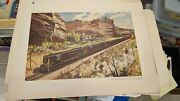 Litho Print By Publicity Dept. Of Ge To Advertise U25b Frisco Locomotive 1959