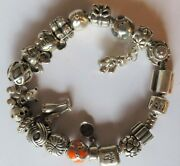 Authentic Pandora Charm Bracelet 7 With 20 Sterling Silver 925 Ale Charm