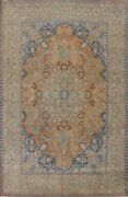 Antique Floral Traditional Oriental Area Rug Hand-knotted Wool Carpet 9x13 Ft